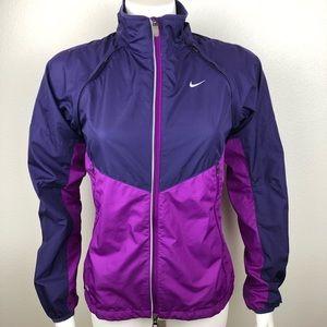 Nike Storm-Fit Running Jacket Zips to Vest Purple